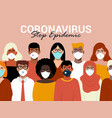concept coronavirus quarantine vector image