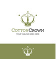 cotton ball in a crown logo vector image