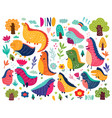 cute dinosaurs vector image vector image