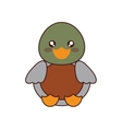 cute duck kawaii style vector image