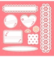 cute lace frames vector image vector image