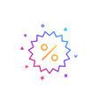 discount line icon special offer sign vector image