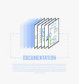 documentation process line vector image