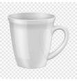 empty white cup i mockup realistic style vector image vector image
