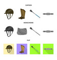 equipment and riding sign vector image vector image
