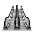 escalator stairs mockup realistic style vector image