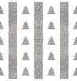 Festive seamless geometric silver textured pattern vector image vector image