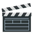 film production clapper icon flat style vector image vector image