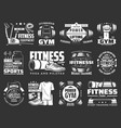 fitness training and gym equipment shop icons vector image