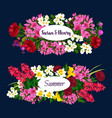 floral design for wedding or summertime vector image vector image