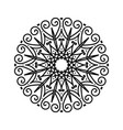 floral round decorative sketch ethnic decorative vector image vector image