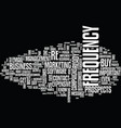 frequency not the problem it once was text vector image vector image