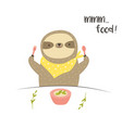 funny cute eating breakfast food lover vector image vector image