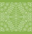 geometric greenery seamless pattern vector image vector image