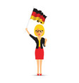 german flag waving woman vector image