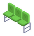 green chair from football arena icon isometric vector image vector image