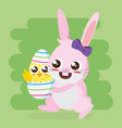 happy easter card vector image