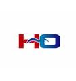 HO Logo Graphic Branding Letter Element vector image vector image