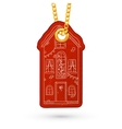House with decoration vector image vector image