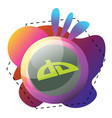 icon a devianart logo inside colorful graphics vector image vector image