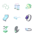 Innovation icons set cartoon style vector image vector image