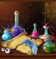 magic potion jars composition vector image