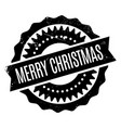 merry christmas rubber stamp vector image vector image
