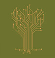 microelectronics circuits circuit board vector image vector image