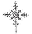 modern steeple cross vintage vector image vector image