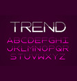 modern thin font trendy style typeface vector image vector image