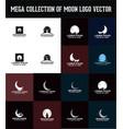 moon logo design vector image vector image