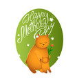 mothers day card bear mom with her cub vector image vector image