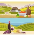 Mountain Landscape Banner vector image vector image