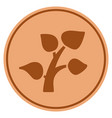 plant sprout bronze coin vector image vector image