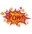 pow comic book vector image