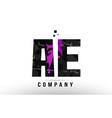 purple black alphabet letter ae a e logo vector image