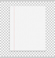 realistic paper note on isolated background vector image vector image