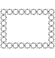 rectangular frame made of decorative elements in vector image