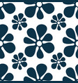 Repeating abstract flowers and round dots cute