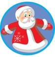 Santa abstract sign vector image vector image