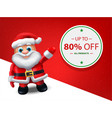 santa christmas sale banner - level map vector image vector image