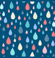 seamless pattern of raindrops vector image vector image