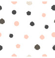 seamless pattern with dots of rose pink and black vector image vector image