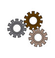 set gear wheel cog cooperation teamwork concept vector image vector image