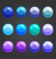 Shiny bubbles-2 vector image vector image