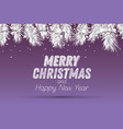 silver fir branch with neon lights on purple vector image