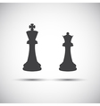 Simple icons chess pieces vector image vector image