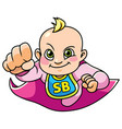 super baby girl flying vector image vector image