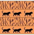 Tiger background with silhouette vector | Price: 1 Credit (USD $1)