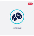 two color coffee bean icon from drinks concept vector image vector image